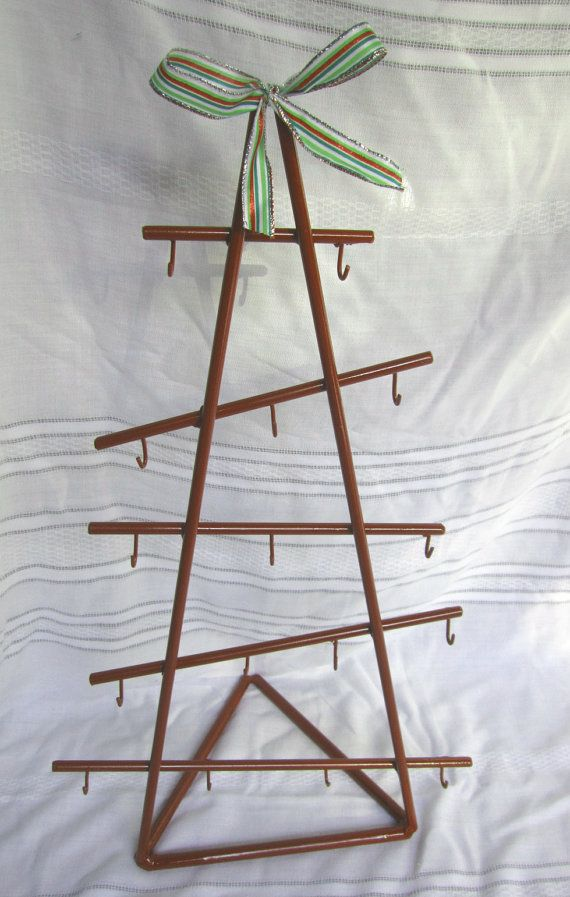 Ornament Holder Wrought Iron Christmas Tree By