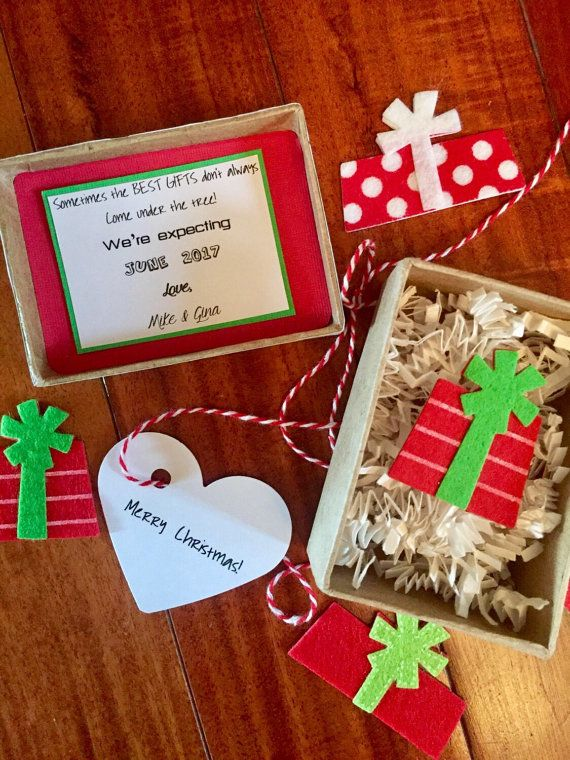 christmas pregnancy announcement best gift baby announcement