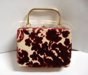 Vintage 50's Box Purse...Beautiful.....!