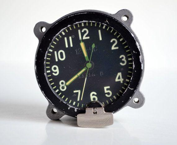 0e524d1e0ab Tank Clock Cockpit Clock Russian Aircraft Clock by oldschoolvibes ...
