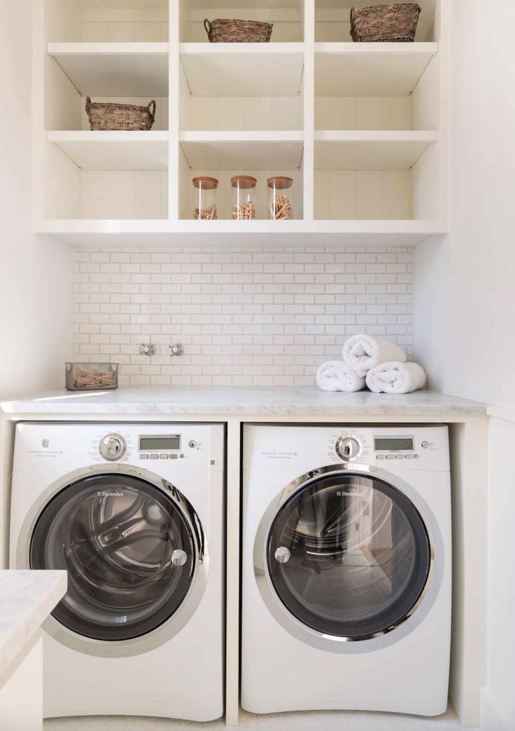 35 Clever ways to create functional and stylish small laundry rooms images