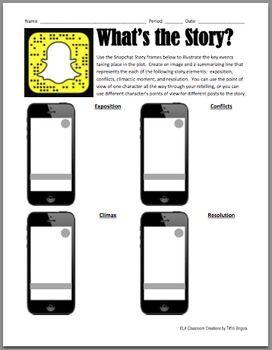 Literature Study: Snapchat Story Elements Worksheet ...