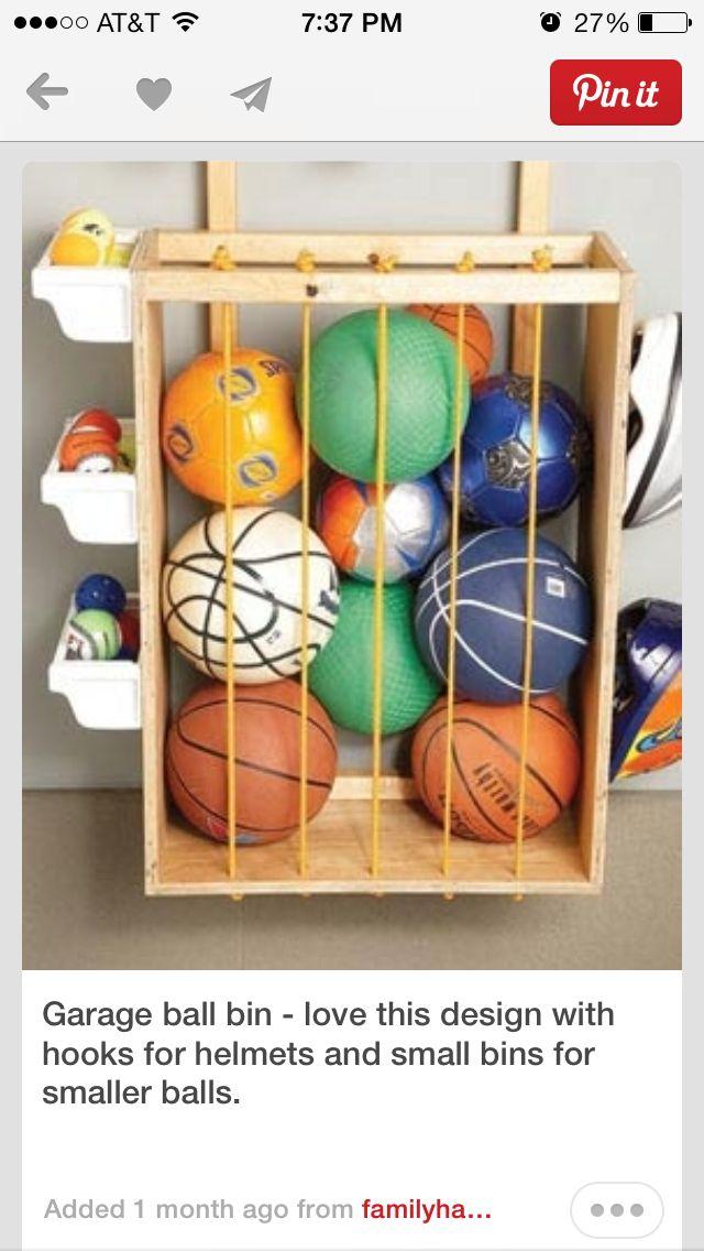 Ball Holder Garage Storage Solutions Toy Storage Garage Storage
