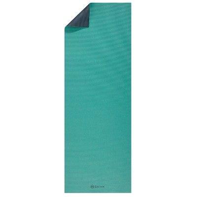 Gaiam Vibrant Viridian Premium 2 Color Yoga Mat 6mm Green Dark Green Print Yoga Mat Yoga Mat