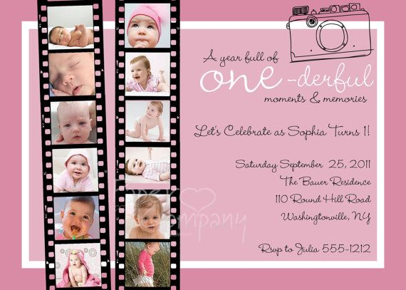 Items Similar To YEAR OF MEMORIES One Year In A Flash First Birthday Party Event Printable Invitation Old Boy Girl