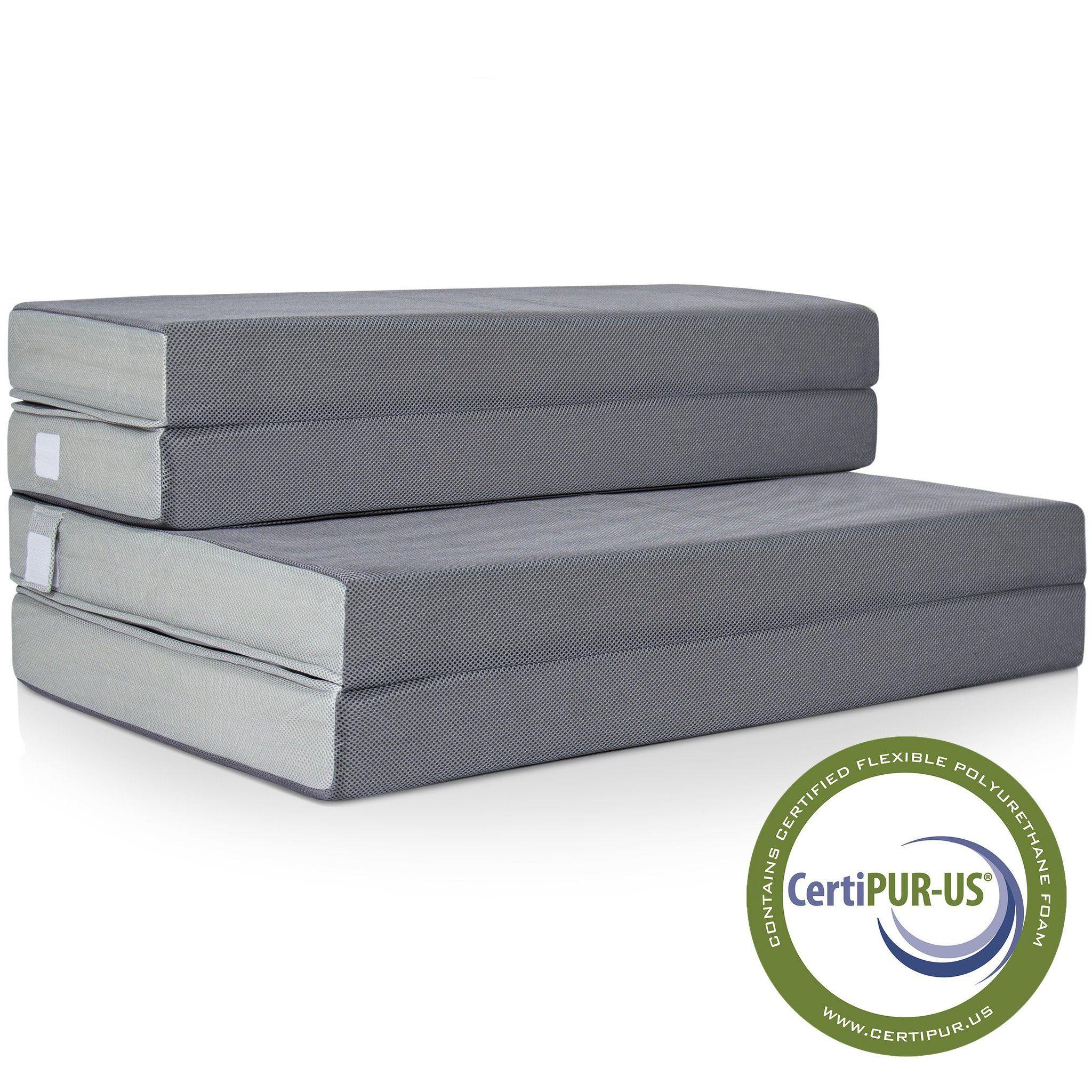 - Foam Sleeping Pads Twin Folding Mattress Lightweight Portable