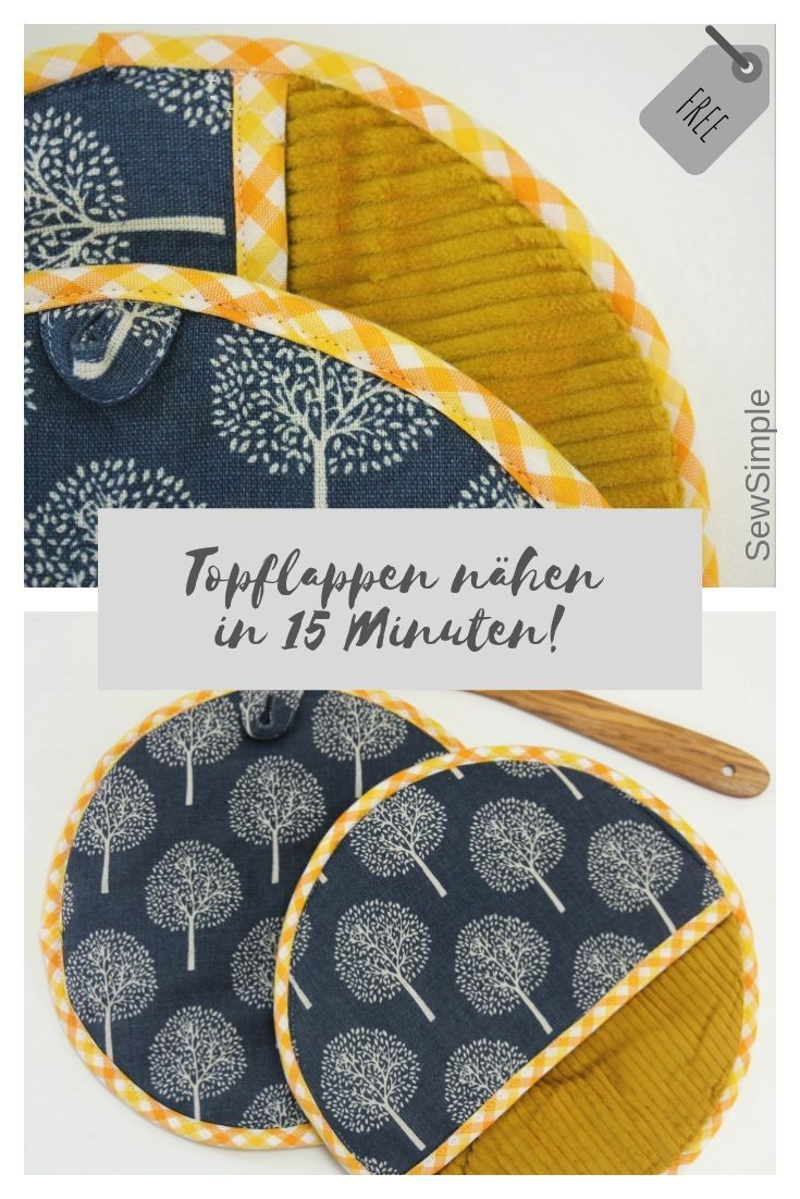 Photo of Sewing potholders in 15 minutes: free instructions