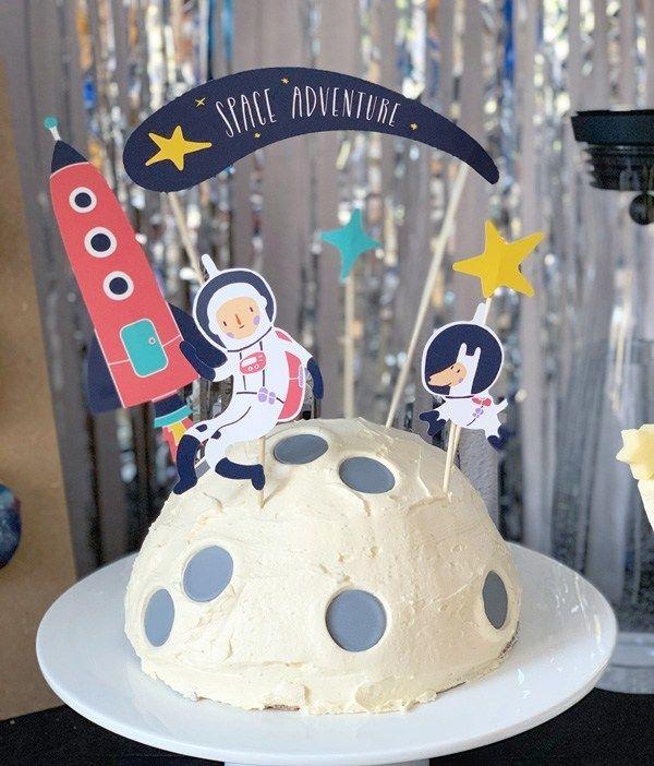 Photo of Kindergeburtstag Space Party Space Party Space Geburtstagsdekoration B …