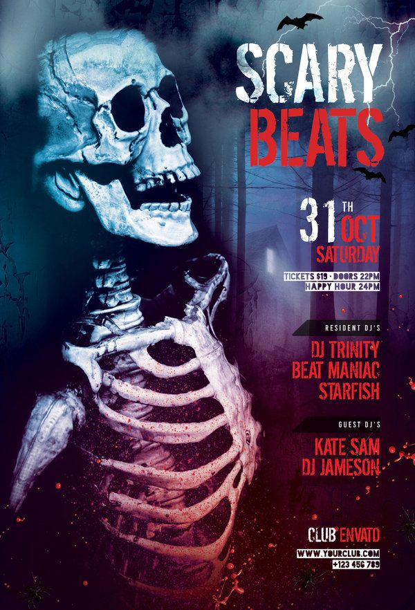 Scary Beats Flyer Scary - Zombie Flyer Template