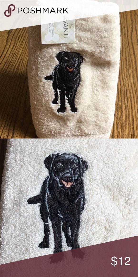 Black Lab Kitchen Hand Towel