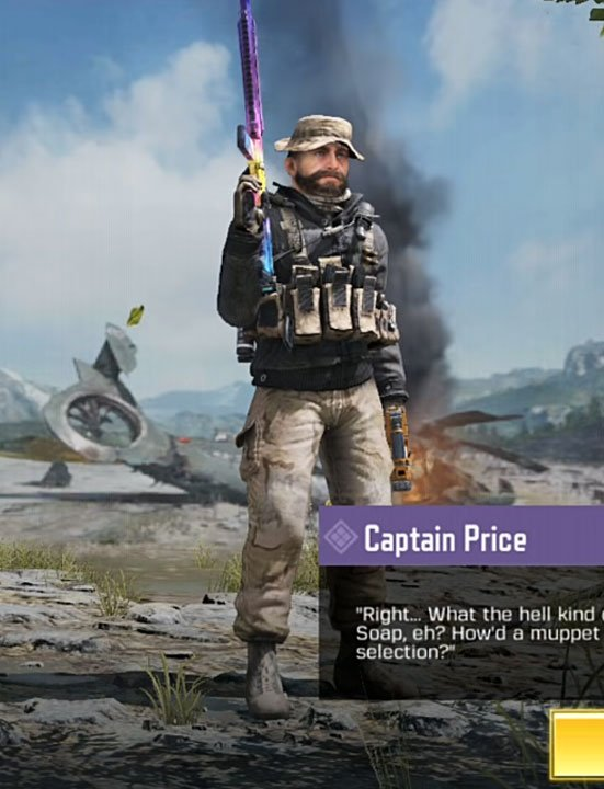 Captain Price Cod Mobile Character Skin Call Of Duty Video Games Funny Character