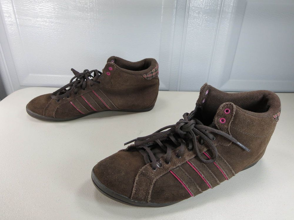 official adidas neo suede brown pink 32d9d 6e147