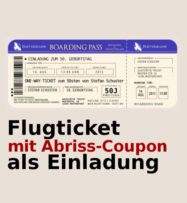 VIP Einladungskarten Party originelle Einladung Ticket