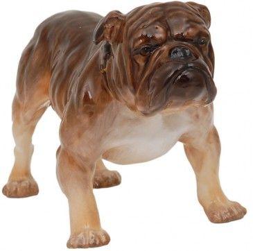 Bulldog Standing Large Bulldog Figurine Ceramic Animals Animal