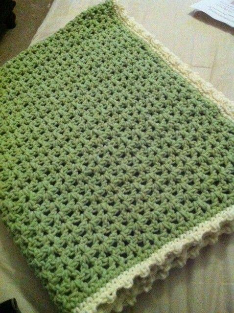 V Stitch Crochet Baby Blanket Took A Week Baby Blankets