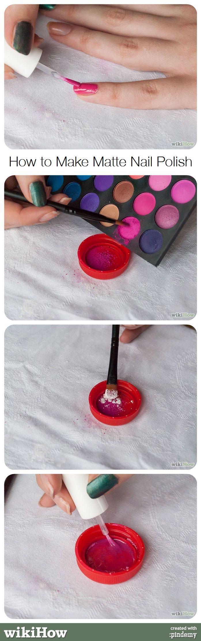Make Matte Nail Polish   Pinterest   Matte nail polish, Matte nails ...