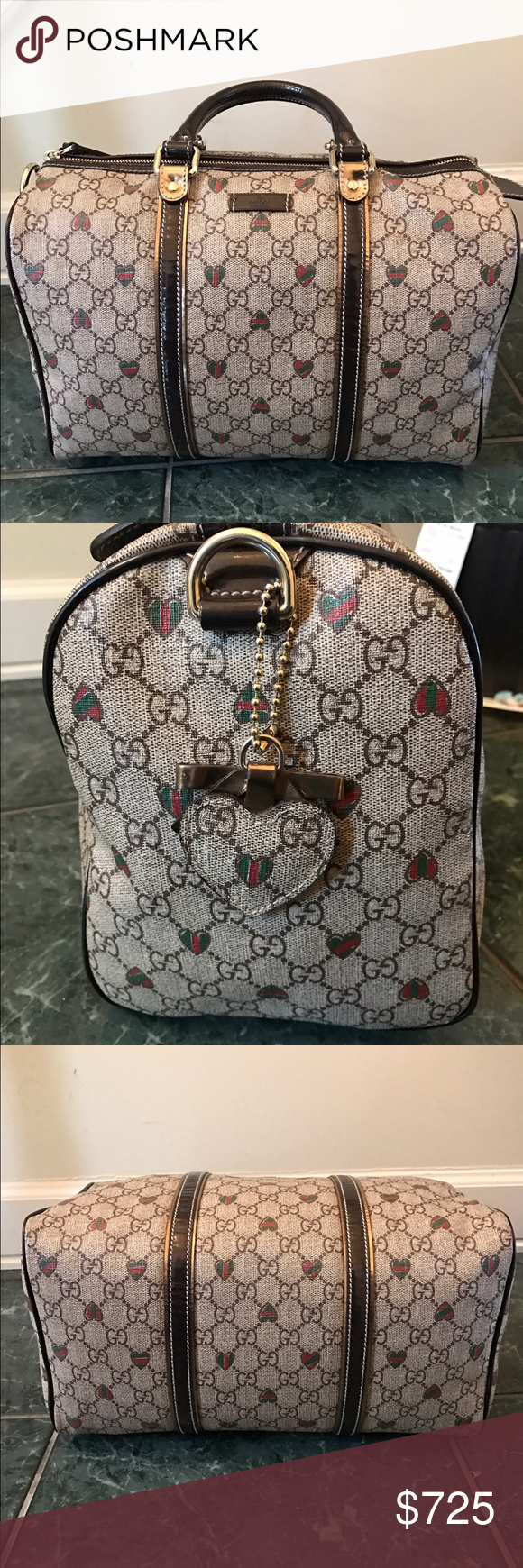 f6d33bf470f Gucci Heart Tattoo Boston Bag Authentic Gucci Heart Tattoo Handbag in  excellent preloved condition