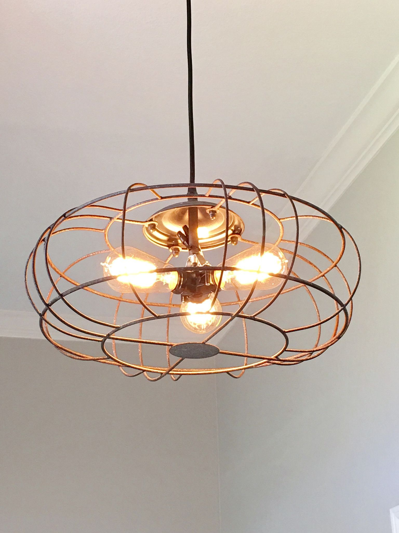Modern Farmhouse Track Lighting Industrial Metal Fan Light Ideas For The House Modern Kitchen