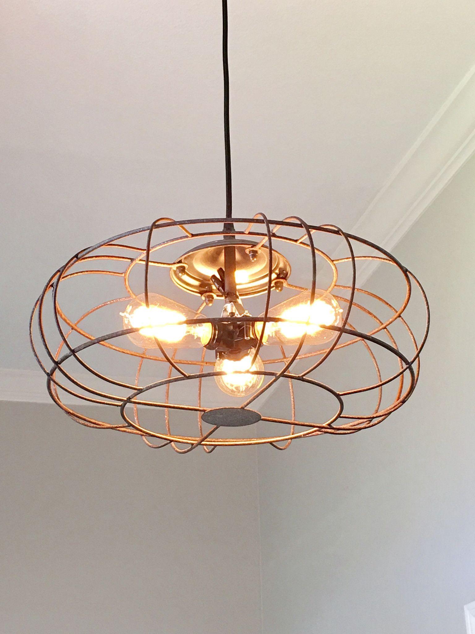 Industrial metal fan light