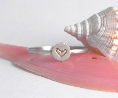 Tiny Sterling Silver Heart Stacking Ring http://melissadawn.indiemade.com/product/tiny-heart-stacking-ring