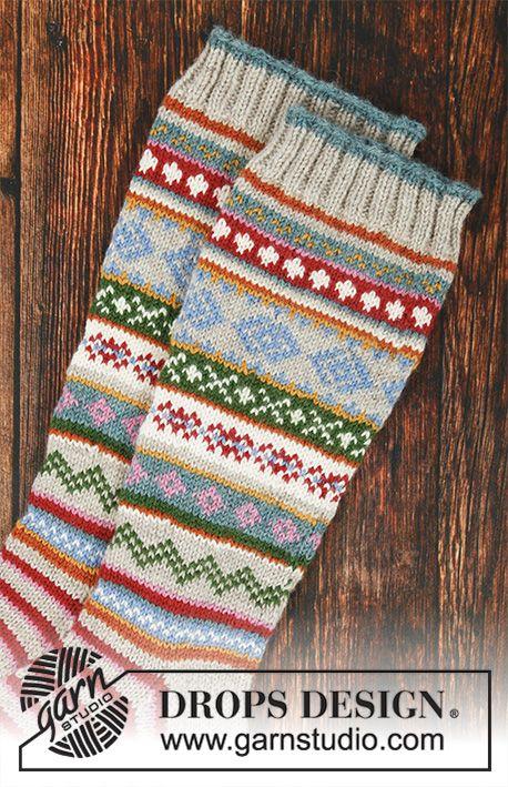 Winter Carnival Socks / DROPS 193-1 - Free knitting patterns by DROPS Design