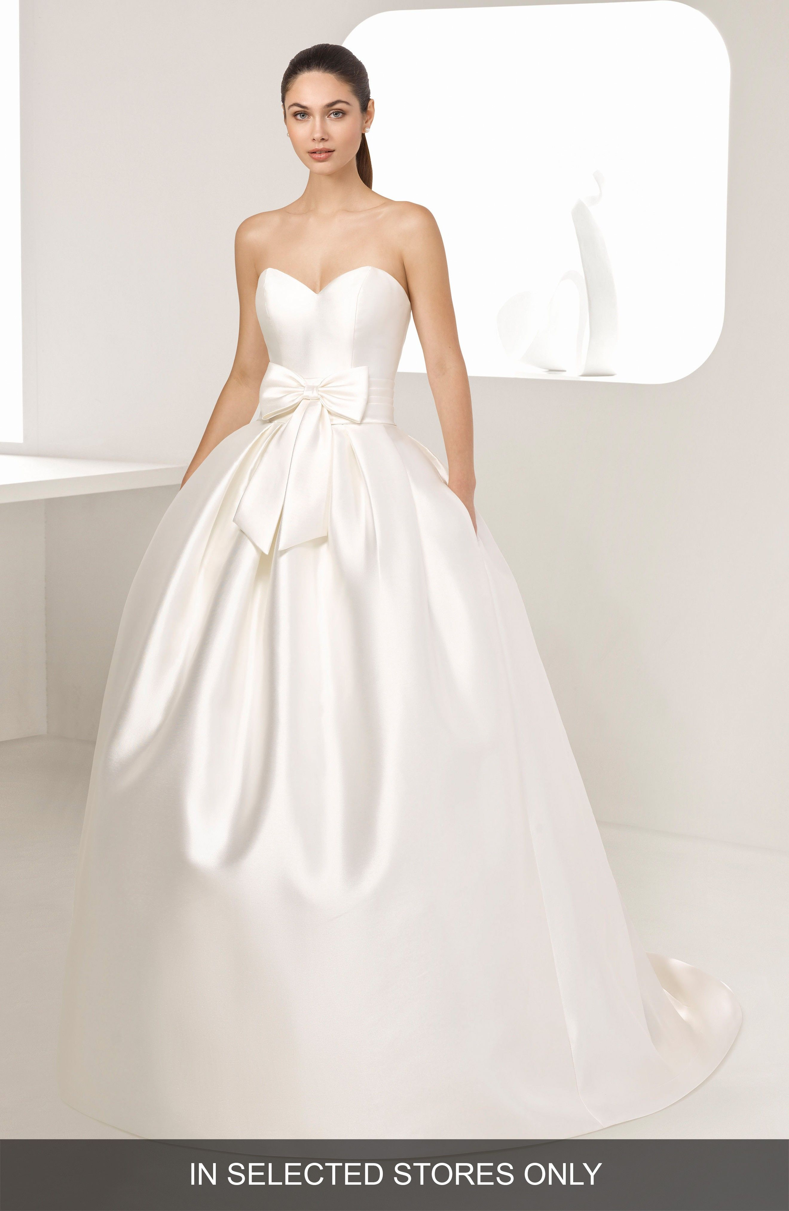 Enebro Strapless Mikado Gown TWO BY ROSA CLARA at Nordstrom ...