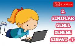 2 Siniflar 2 Donem 7 Online Deneme Sinavi 2020 Sinif Ogretmenler