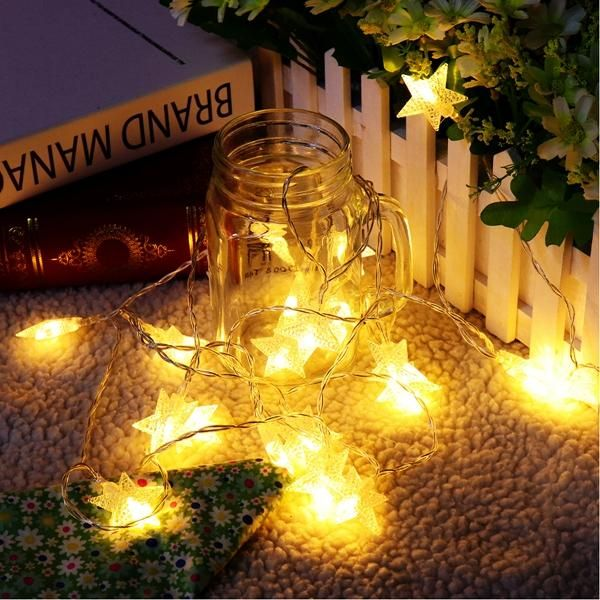 US$449 Battery Powered 3M 20LEDs Warm White Star Shaped Fairy