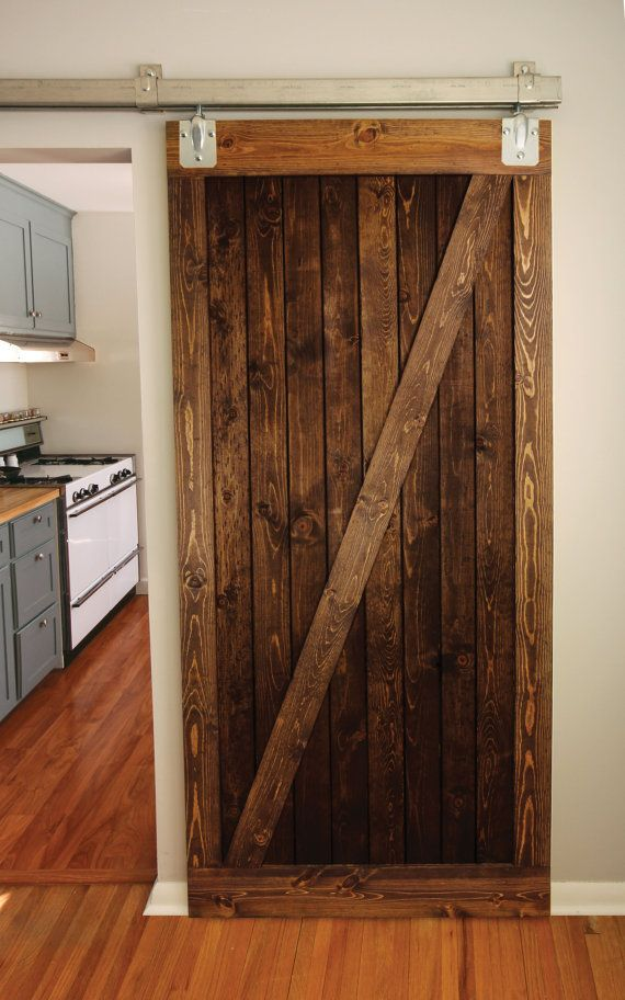 Rustic Wood Barn Door Z Brace Style By Graincustomwoodworks 300 00 Wood Barn Door Barn Door Cottage Living