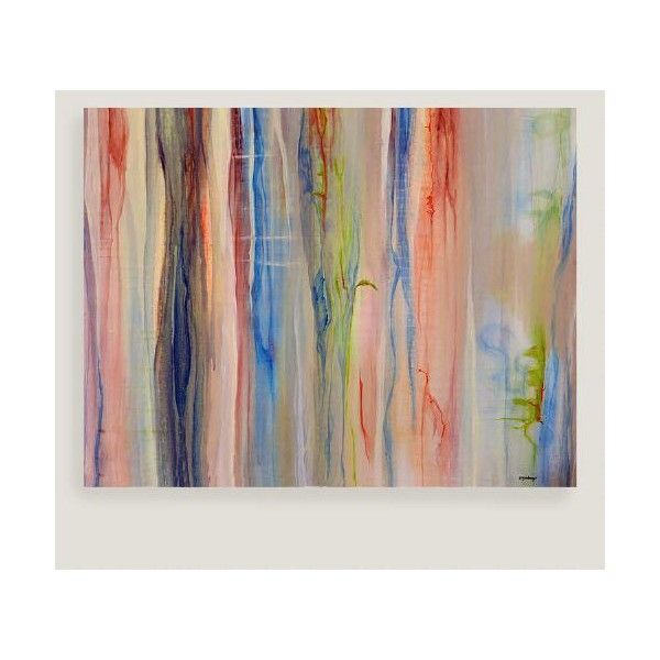 Cost plus world market abstract stripes canvas wall art 130 ❤ liked on polyvore