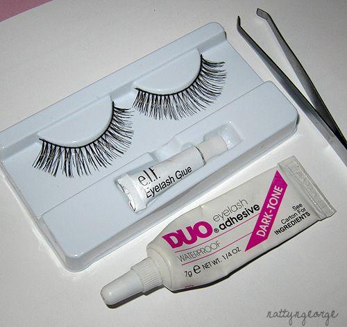 Tools you'll need: -False Full Strip Eyelashes ( ELF Essentials ...