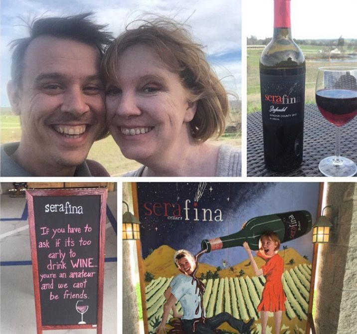 #hofsashouse #californiawinemonth Wine tasting at Sera Fina winery in Amador County was the perfect way to celebrate Valentine's Day with my fiancé.