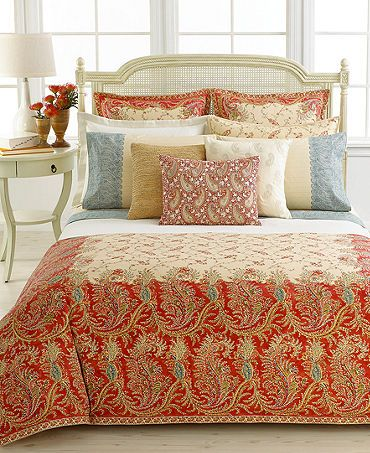 Ralph Lauren Lake House Collection Home Bedding Mirabeau Paisley