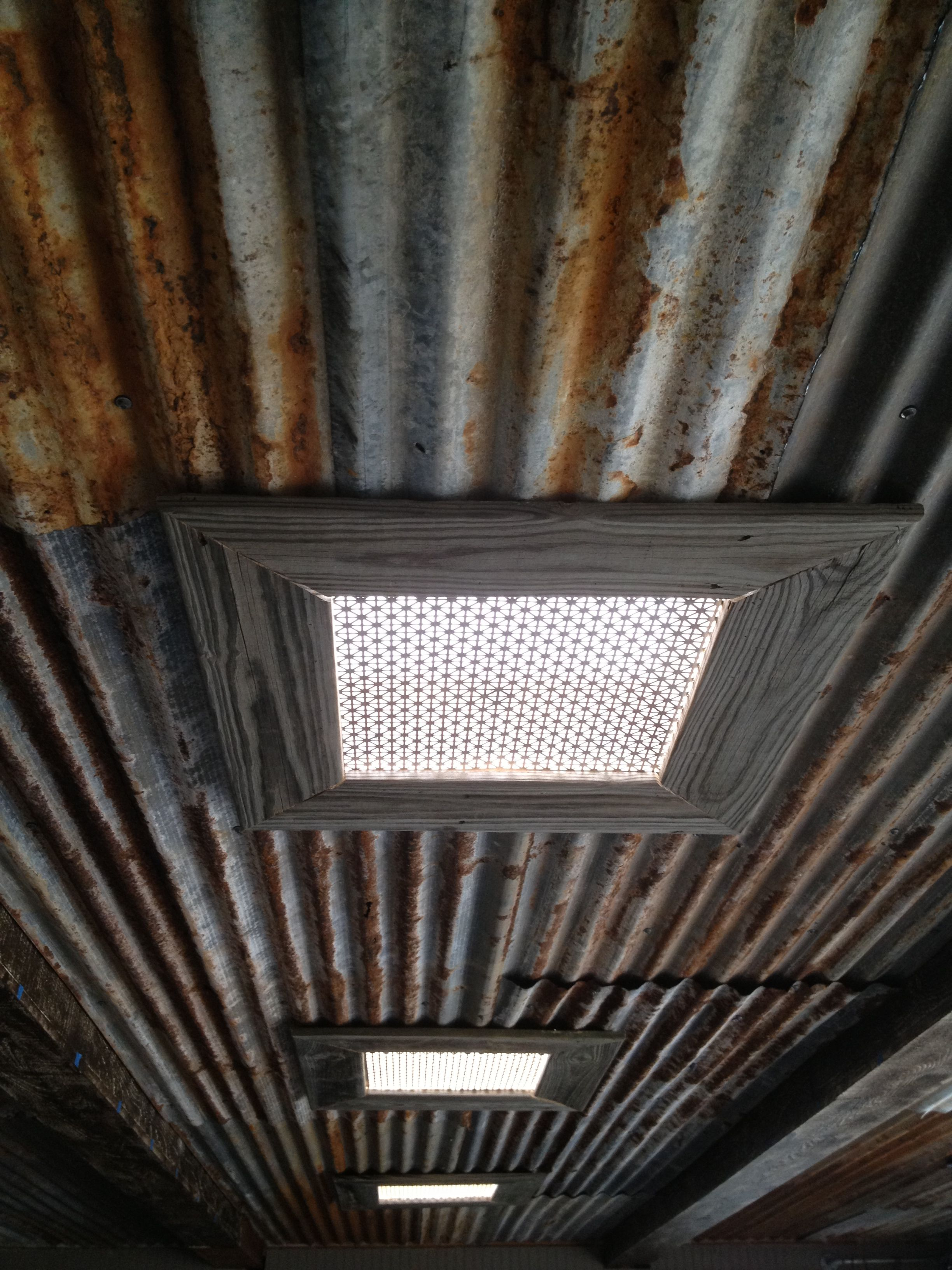 Rustic Tin Ceiling And Skylights Interested In This In 2019 Rustic Tin Ceilings Barn