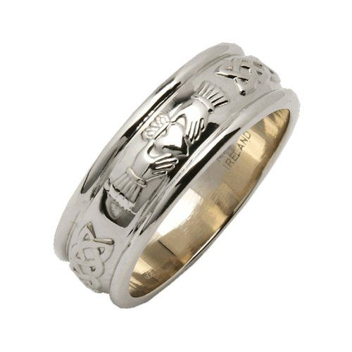 Mens Silver Wide Rounded Claddagh Irish Wedding Ring Size 9 Want To Know More Click On The Claddagh Ring Wedding Irish Wedding Rings Wedding Rings For Women