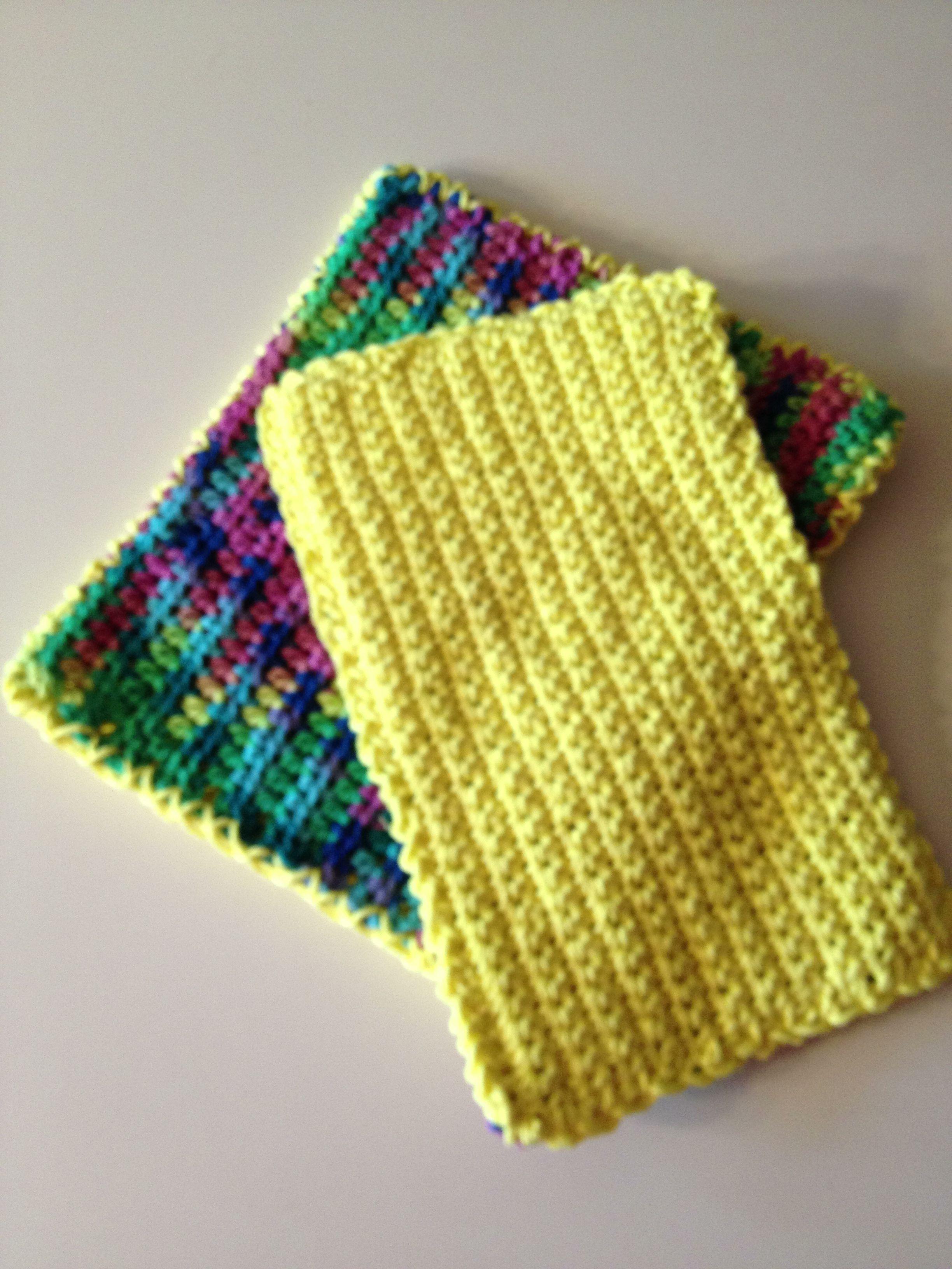 Crochet potholders | pot holders | Sugar, cream yarn