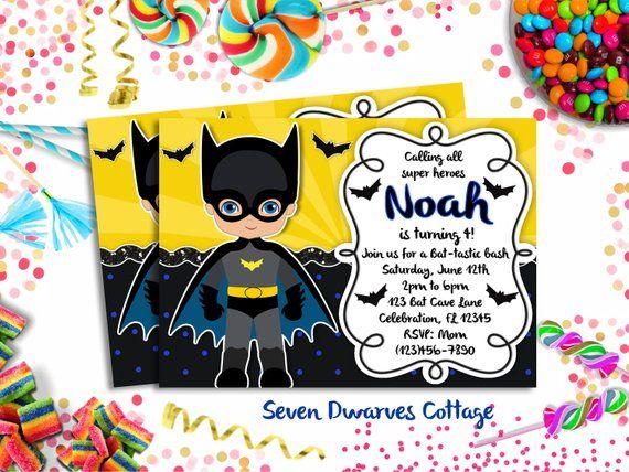 Personalized Batman Inspired Birthday Invitation