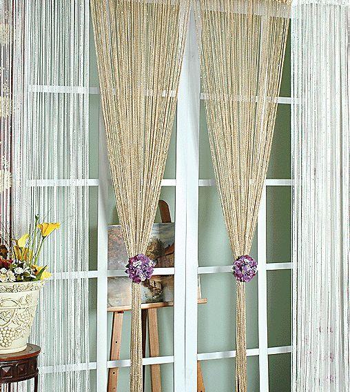 Как красиво повесить кисею, нитяные шторы, шторы нити ...