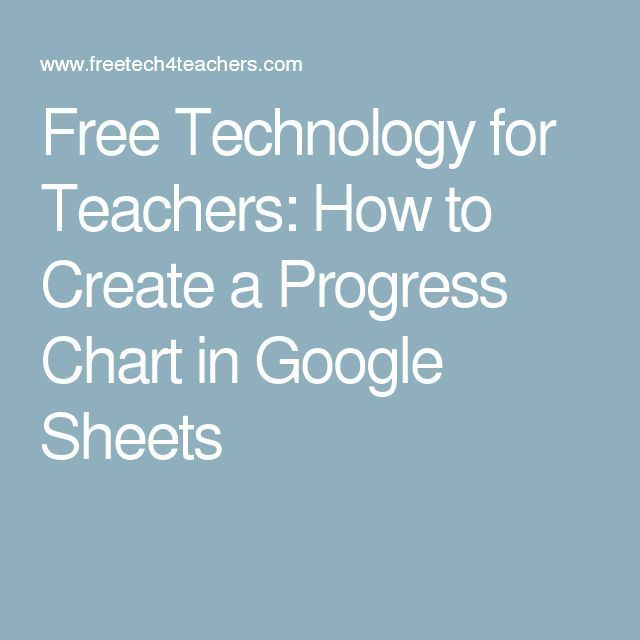 How to Create a Progress Chart in Google Sheets Chart, Teacher and - google spreadsheets
