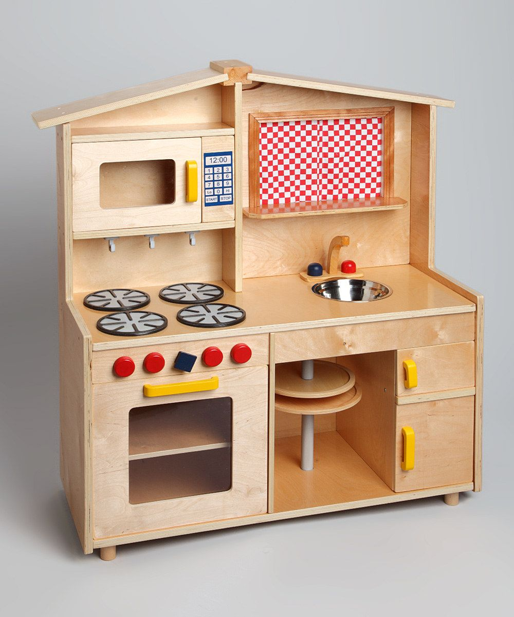 Custom Wood Deluxe Play Kitchen