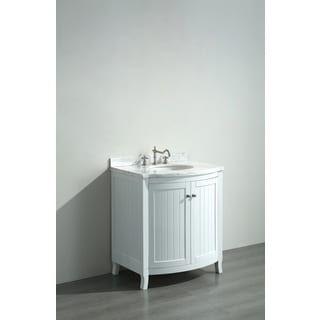 Shop For Eviva Odessa Zinx White 30Inch Bathroom Vanity With Awesome Shop Bathroom Vanities Inspiration Design