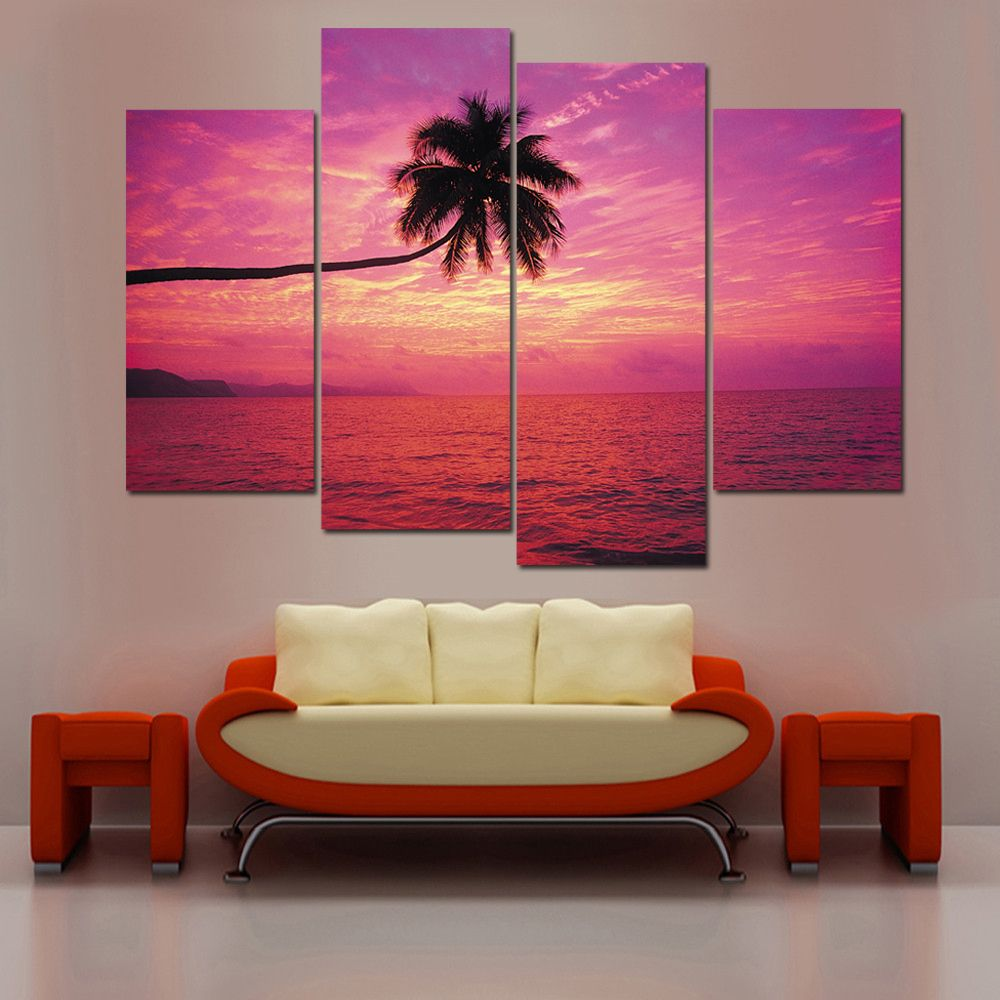 Sunset Landscape Painiting Modular Picture Sea Canvas Painting Best Living Room Paintings Design Inspiration