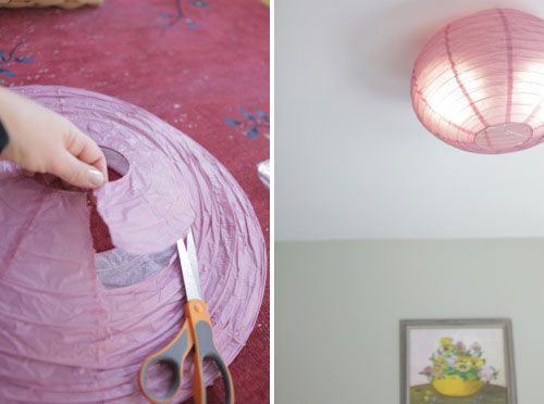 Diy Flush Mount Light Cover Diy Flush Mounted Paper Ceiling