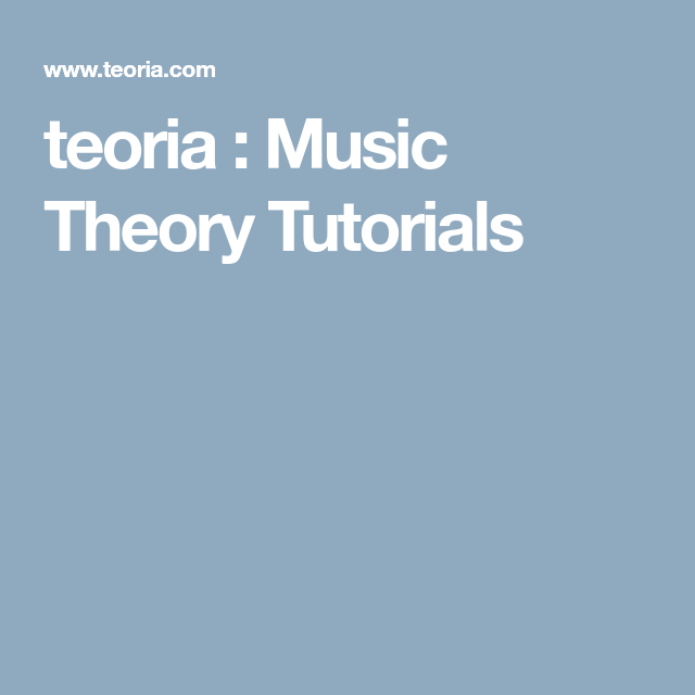 teoria : Music Theory Tutorials | Homeschool - Music (Theory