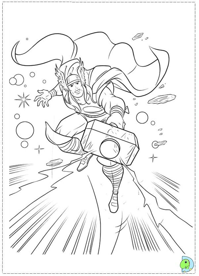 Thor Coloring Page Superhero Coloring Pages Superhero Coloring Avengers Coloring Pages