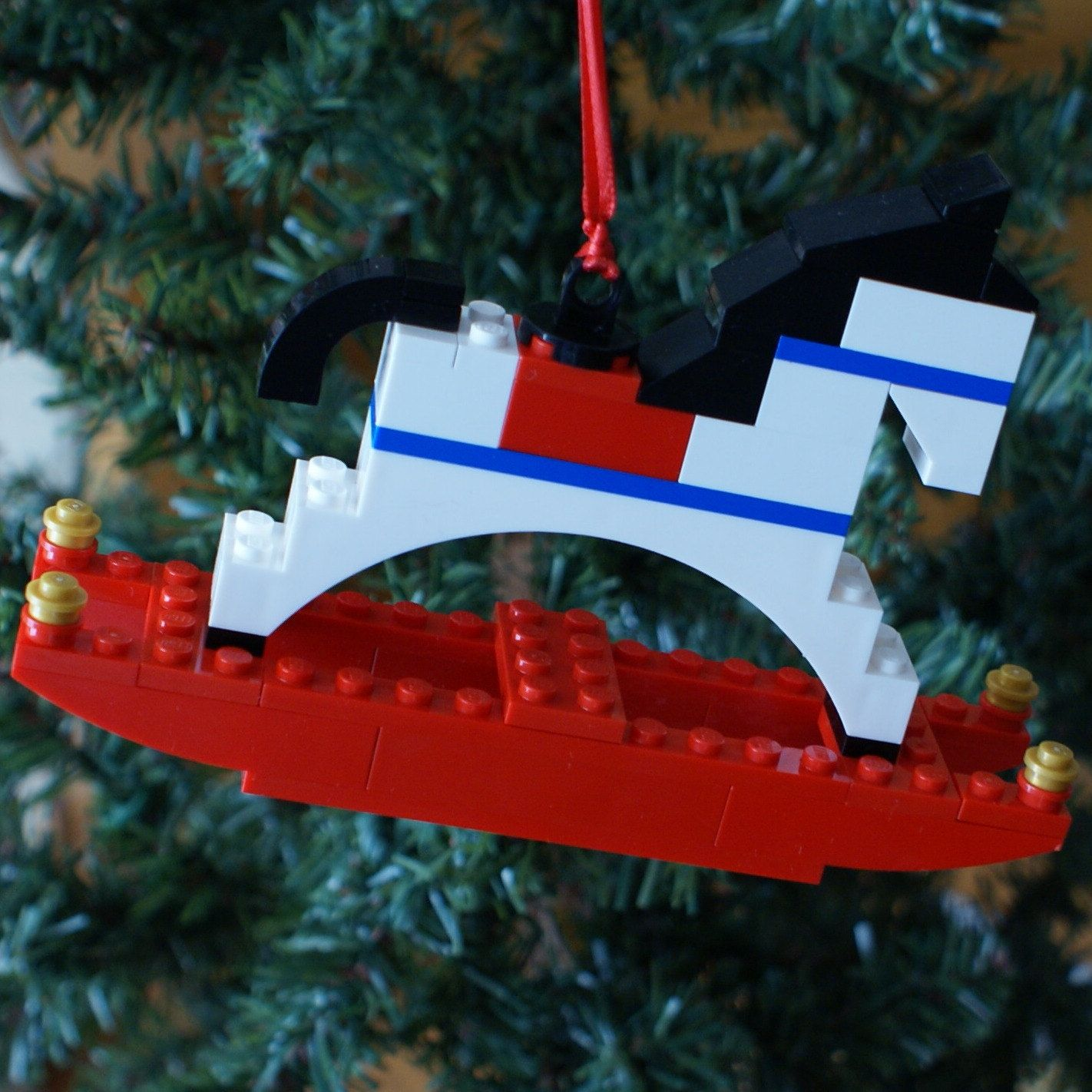 LEGO Rocking Horse Christmas Ornament By Ornaments4charity