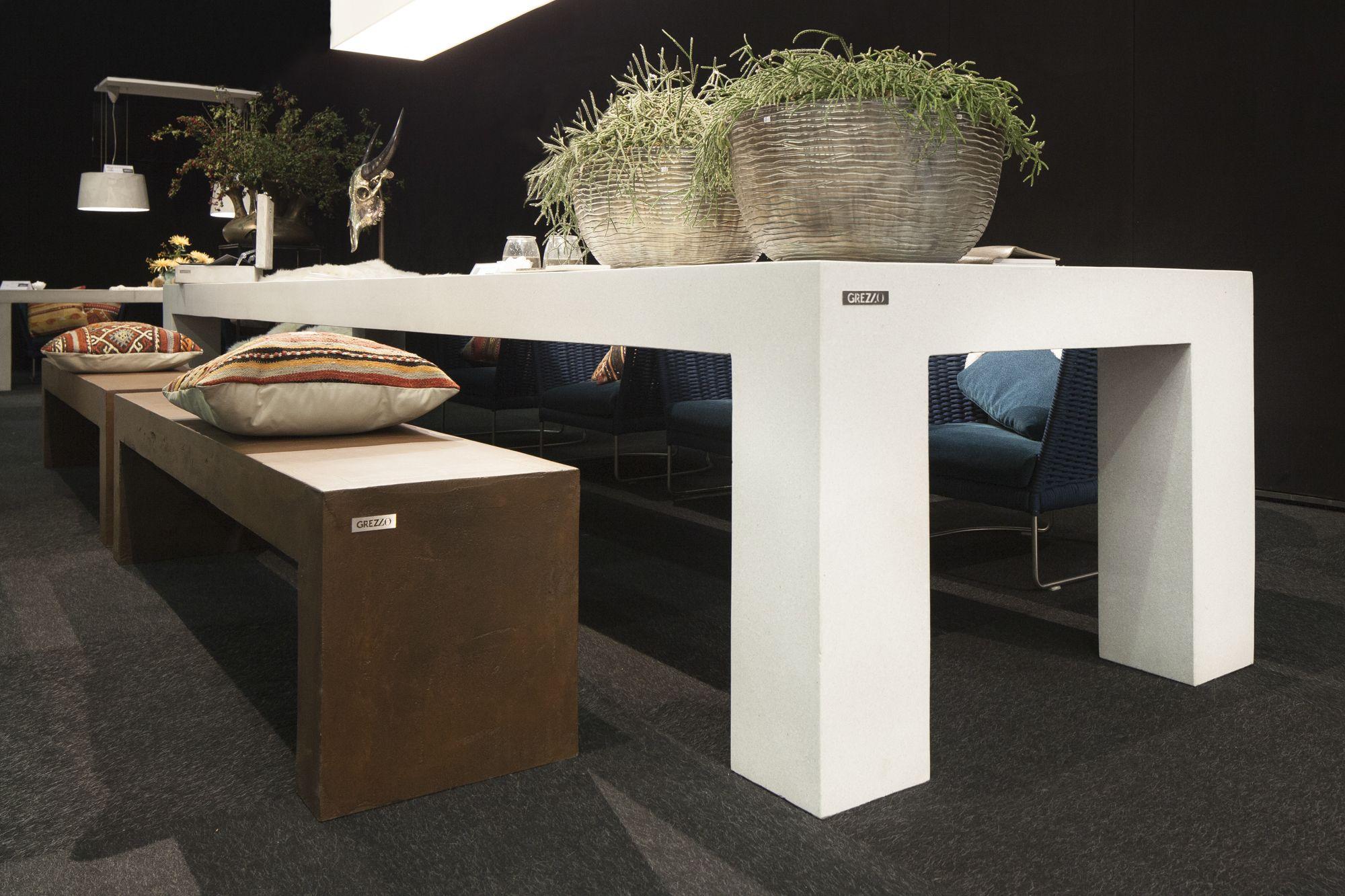 Grote Witte Tafel : Exclusieve grote witte tafel met terrazzo uitstraling grezzo was