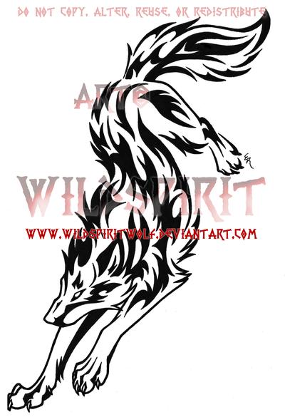 Rebellious Tribal Wolf Tattoo By Wildspiritwolf On Deviantart Tribal Wolf Tribal Wolf Tattoo Tribal Animal Tattoos