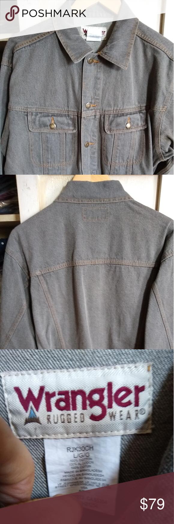 Wrangler Rugged Wear Denim Jacket 100 Denim Jacket In Moss Color Wrangler Jackets Coats Clothes Design How To Wear Fashion [ 1740 x 580 Pixel ]