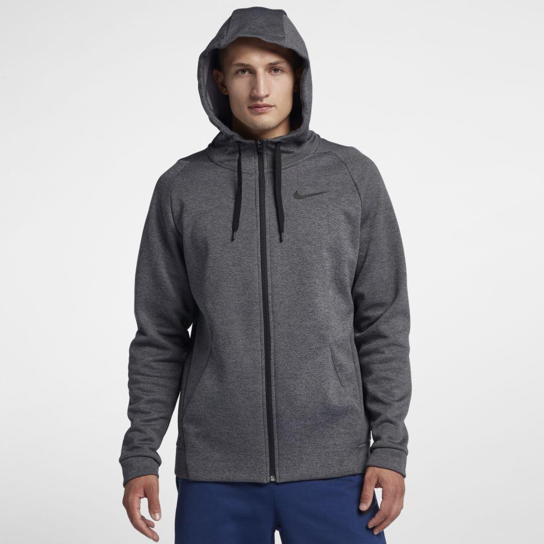 87208afcd4b0 Nike Dri-FIT Therma Men s Full-Zip Training Hoodie Size 4XL Tall (Charcoal  Heather)